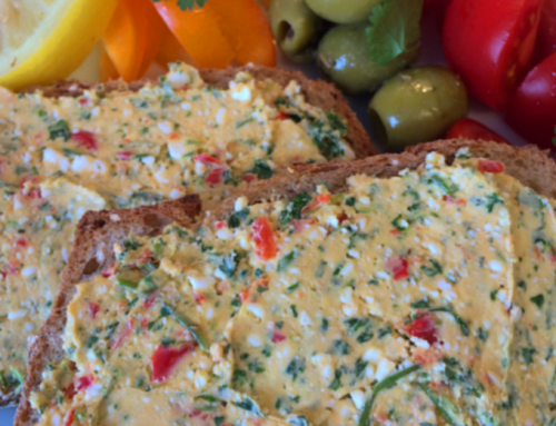 Chilli and corriander feta spread