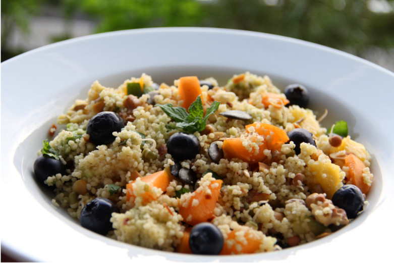 Minty, fruity couscous